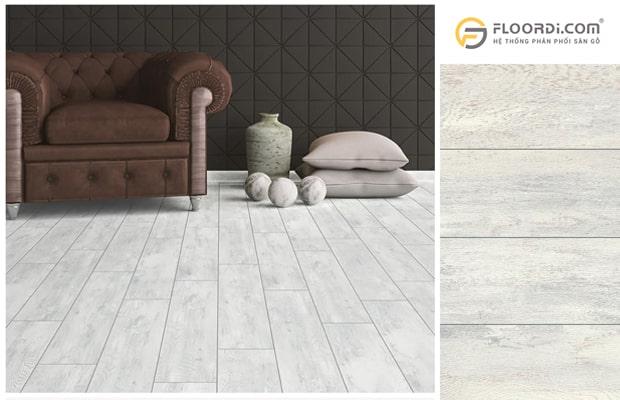 Sàn gỗ màu xám được xem là gam màu không bao giờ lỗi thời
