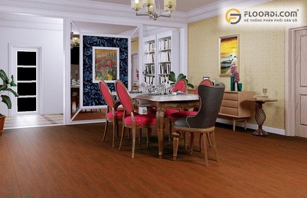 Tây Âu cổ điển style sẽ phù hợp đi cùng với sàn gỗ màu tối