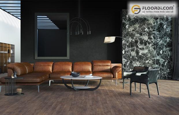 Sàn gỗ màu phá cách dành cho những ai có cá tính và năng động