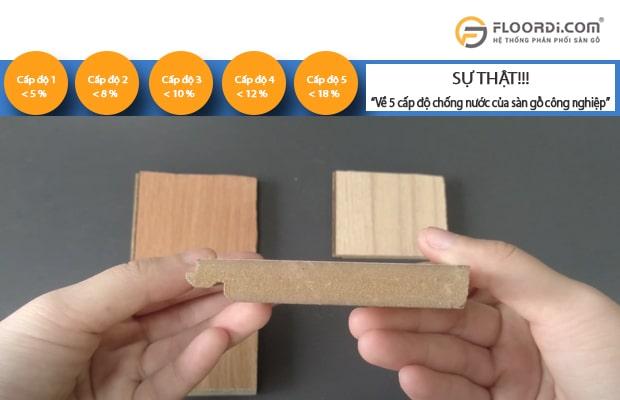 5 cấp mức độ chịu nước của gỗ sàn công nghiệp được các chuyên gia khuyến nghị nên dùng