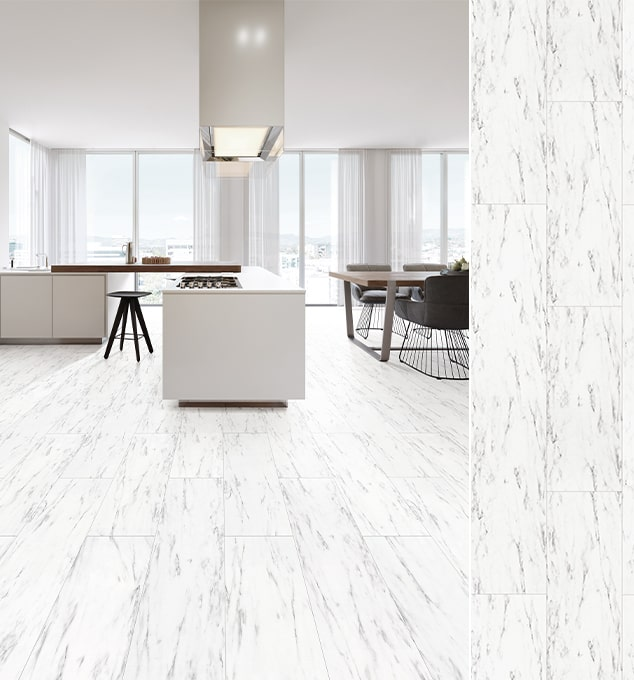 Sàn gỗ SM001 – Marble White